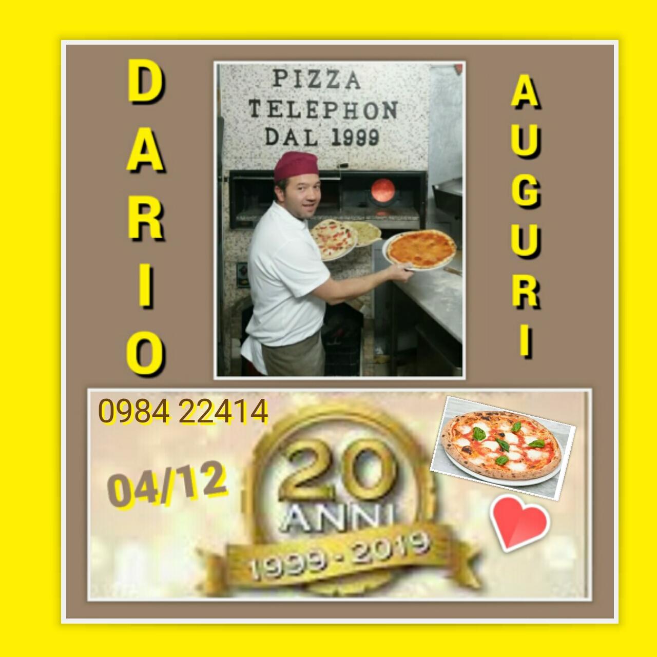 Cosenza: la Pizzeria Telephon compie 20 anni