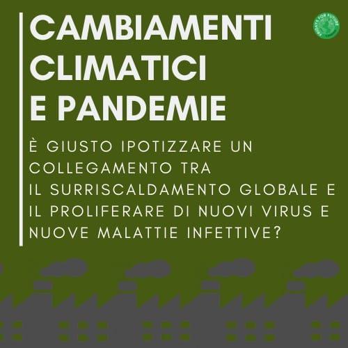 Fridays For Future Cosenza: Cambiamenti climatici e Pandemie