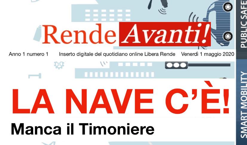 """Dal 1 Maggio sarà online """"Rende Avanti!"""", la rivista di LiberaRende"""