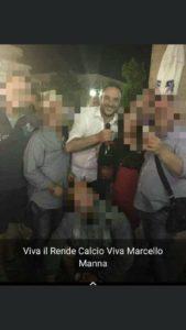 Fabio Coscarella che festeggia la vittoria di Marcello Manna nel 2019