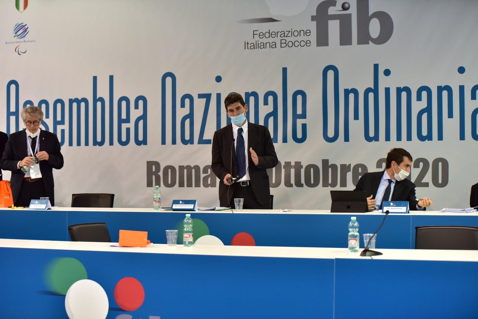 Marco Giunio De Sanctis confermato alla presidenza della Federbocce