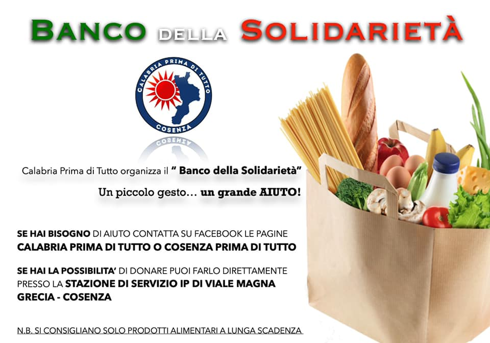 """""""Banco della Solidarietà"""", parte la raccolta di generi alimentare per le persone più bisognose"""