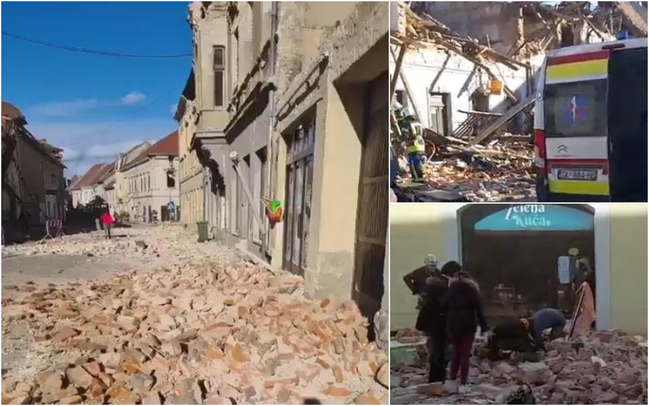 Croazia scossa di magnitudo 6.4. Distrutto il centro di Petrinja