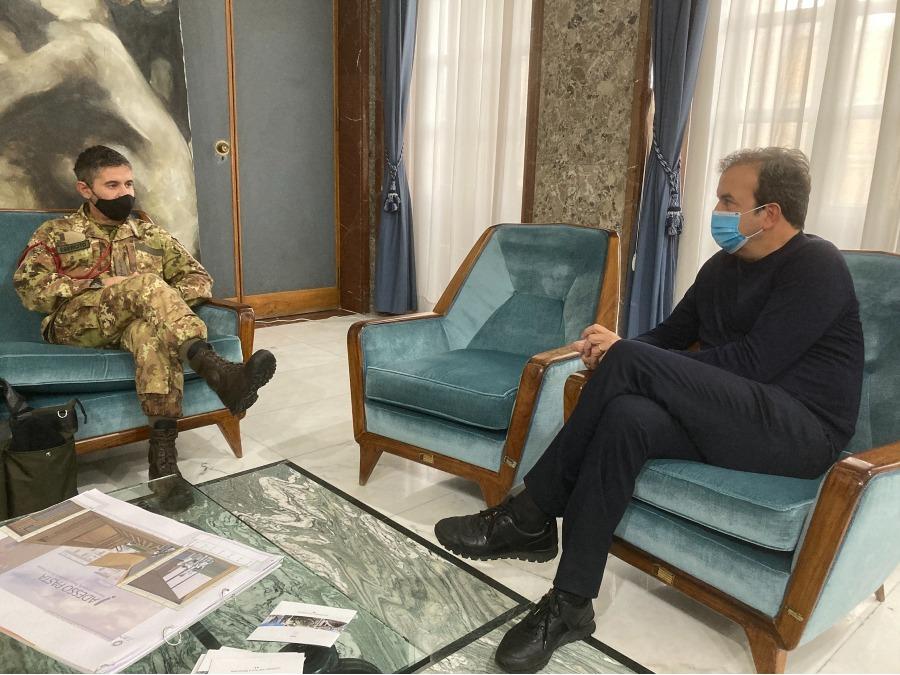 """Occhiuto incontra il colonnello Tinelli, nuovo comandante del """"Raggruppamento Calabria"""""""