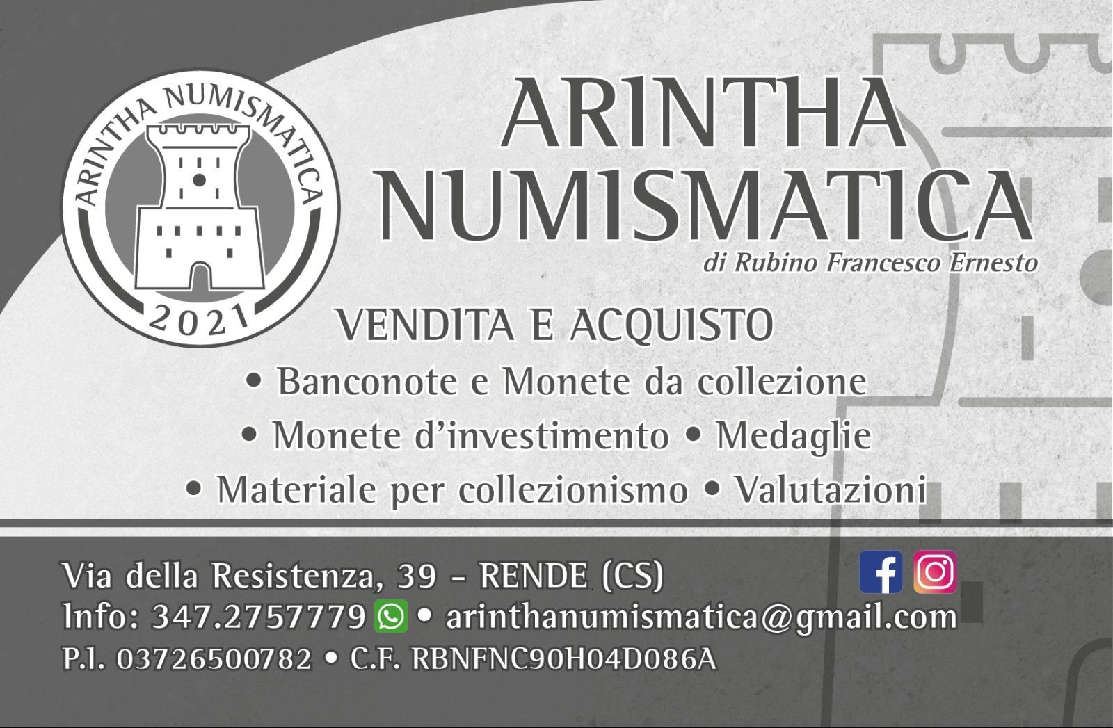 Nuova inaugurazione a Rende: apre Arintha Numismatica