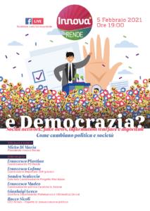 Social e democrazia, domani il webinar di Innova Rende