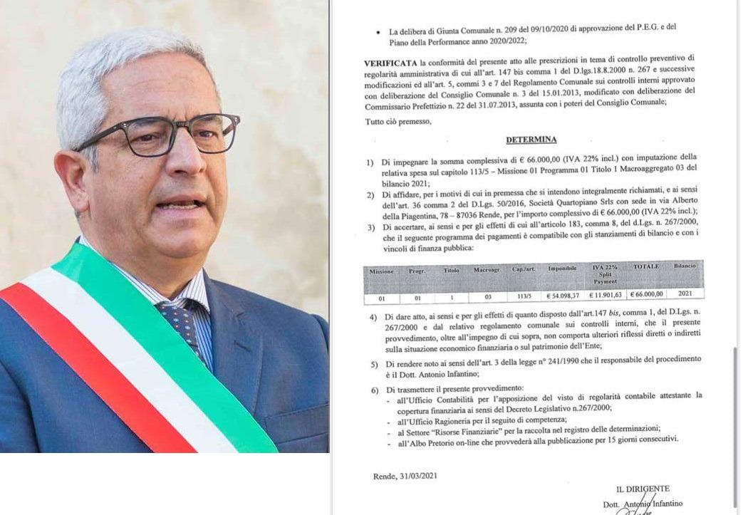 """Rende: Il Comune regala 66.000 euro ad una società """"amica"""", alla faccia dei cittadini bisognosi"""