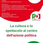 """Rende: """"Cultura e spettacolo al centro dell'azione politica"""". Venerdì il webinar organizzato dal PD di Rende"""