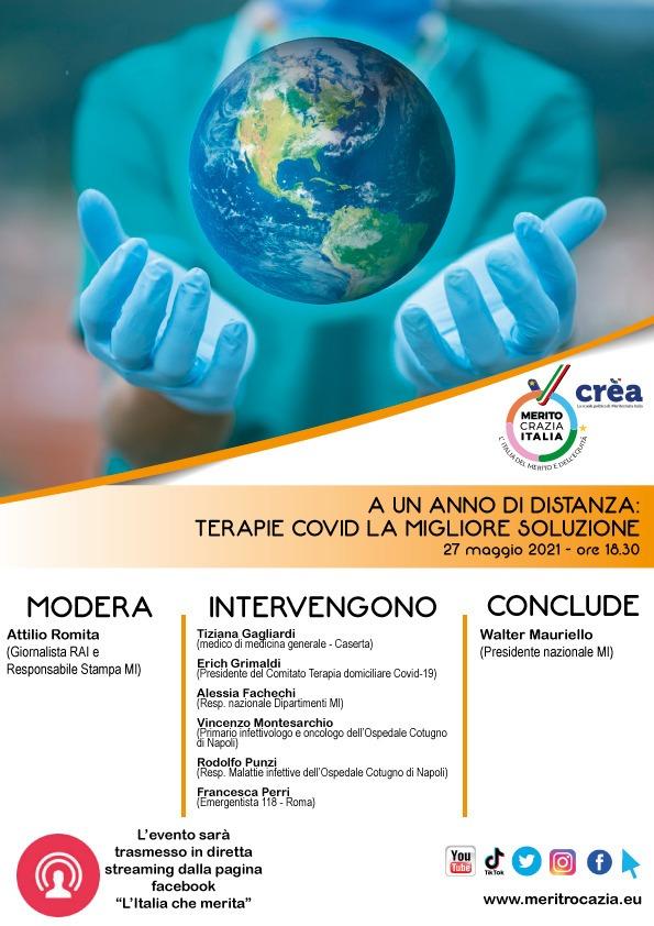 """""""Terapie Covid: la migliore soluzione"""". Oggi il webinar di Meritocrazia Italia"""