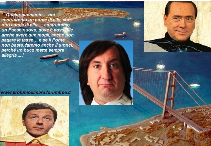 """Calabria: """"Noi costruiremo un ponte di pilu… con otto corsie di pilu!"""""""