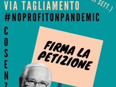 Nessun profitto dalla pandemia: Firma anche tu la petizione