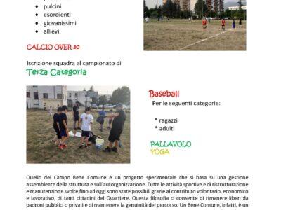 """Rende. Sosteniamo il progetto """"Campo Bene Comune"""" promosso dall' ASD CEEP Villaggio Europa"""