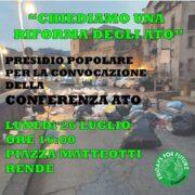 Emergenza Rifiuti. Presidio di Fridays for Future alla riunione ATO Cosenza