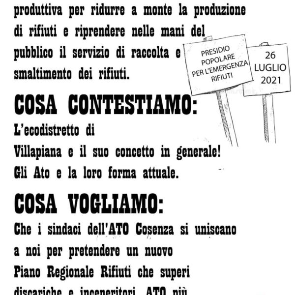 """Presidio Fridays for Future:"""" Basta arricchire i signori della munnizza"""""""