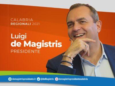 """Calabria2021, De Magistris: """"L'assenza di istituzioni credibili sta causando danni enormi alla Calabria"""""""