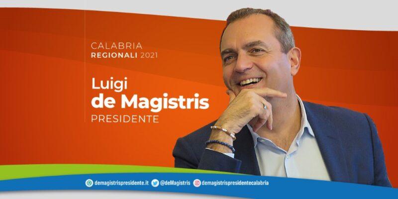 """Calabria2021, De Magistris:"""" Il 3 ottobre ridaremo dignità e rispetto ai calabresi"""""""
