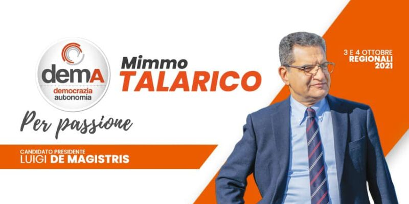 Rende: Mimmo Talarico si candida a sostegno di Luigi De Magistris