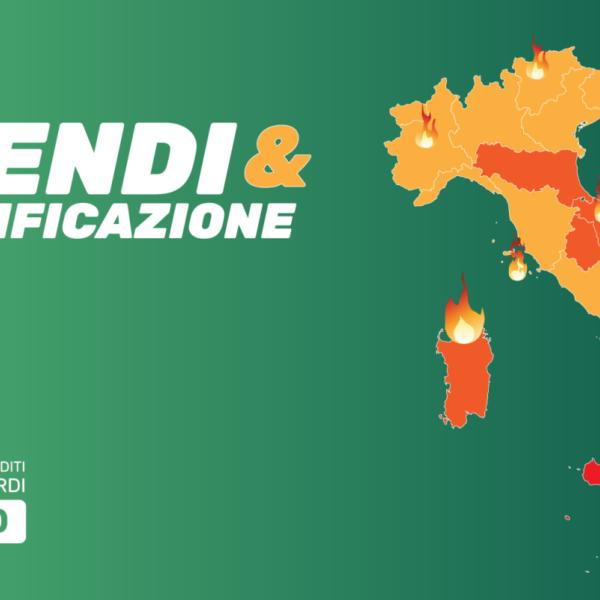 """Europa Verde: L'Italia va a fuoco! Dossier su """"Incendi & Desertificazione"""""""