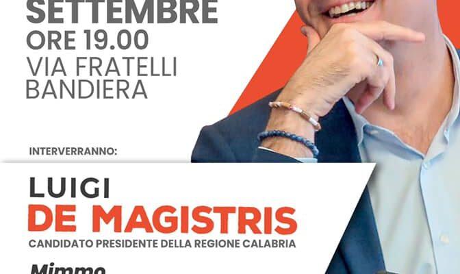 Rende: Sabato 11, incontro pubblico con Luigi De Magistris e Mimmo Talarico(demA)